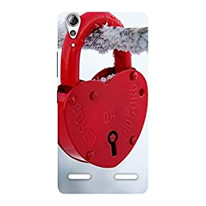 Ajay Enterprises Red Lock Multicolors Back Case Cover for Lenovo A6000