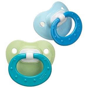 安抚奶嘴海淘:NUK 婴儿1号硅胶安抚奶嘴