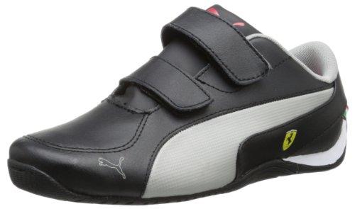 Puma Drift Cat 5 Leather Ferrari V Sneaker (Toddler/Little Kid/Big Kid),Black/Limestone Gray,5 M Us Toddler front-1008587
