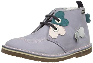 Kickers Girls Adlar Heart Nubuck IF Desert Boots 1-12475 Purple 5 UK Child, 22 EU