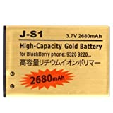 2680 mAh Gold High Capacity Battery J-S1 for BlackBerry 9720 Curve 9310 Curve 9315 Curve 9220 Curve 9320