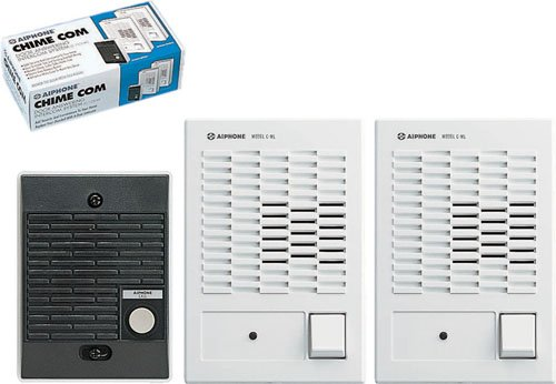 Aiphone C-123Lw Chimecom Single-Door Answering System With Dual Master And Door Release Button