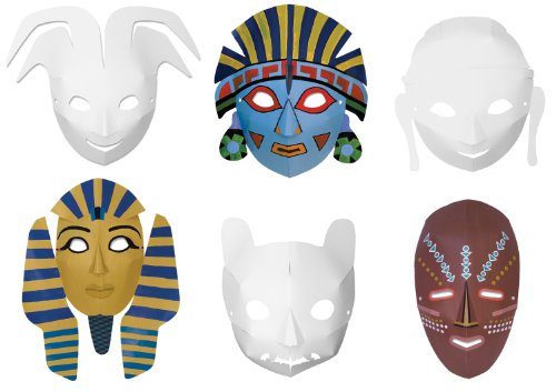 Chenille Kraft Dimensional Multi Cultural Ready to Color Masks - 1