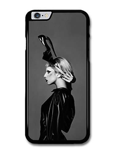 JD World ? Lady Gaga Shoe Hat Black & White Born This Way case for iPhone 6 Plus (5.5