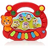 Red Farm Baby Children Kids Animals Musical Developmental Electrical Piano Keyboard Early Educational Toys
