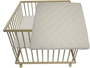 s mann kinderm bel hl ln 100m parc pour b b h tre tuv 100x100 avec matelas. Black Bedroom Furniture Sets. Home Design Ideas