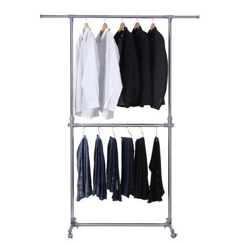 Songmics llr401 barra para colgar ropa con ruedas - Barra colgar ropa ...