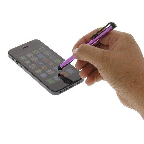 Ersatzstift LONG lila violet Eingabestift Stylus Stift Pen für das kapazitive Display Touchscreen für Alcatel One Touch 918D One Touch Smart 991D One Touch Ultra 995D One Touch Snap LTE One Touch Snap One Touch Fire One Touch Idol X One Touch 998 One Touch 997D One Touch 997