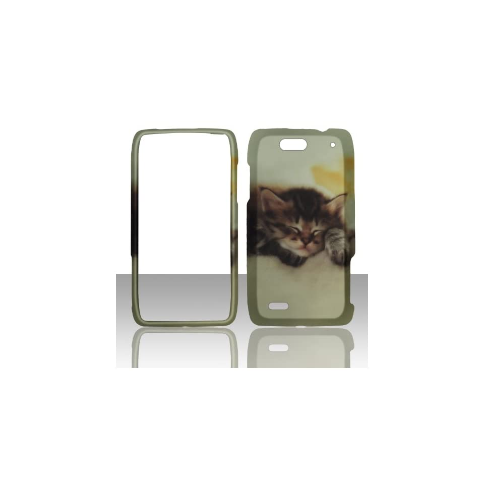 2D Kitty Cat Motorola Droid 4 / XT894 Case Cover Phone Hard Cover Case Snap on Faceplates