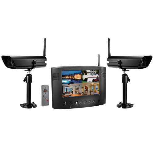Uniden Udw20055 Wireless Video Surveillance System, Black, One Screen And Two Cameras