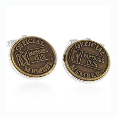 Cuff-Daddy PGA Ball Mark Golf Cufflinks in Sterling Silver
