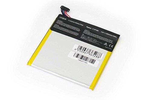 Batterie vhbw 3900mAh (3.8V) pour ordinateur portable tablette Asus MeMo Pad HD7, HD 7, ME137, ME137x remplace C11P1304, C11-P1304.