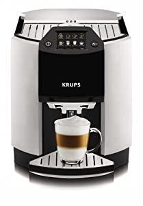 KRUPS EA9000 Barista Full Automatic One Touch Cappuccino Machine with Automatic Rinsing and KRUPS Two-Step Frothing Technology, Metallic