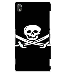PrintVisa Danger Skull Design 3D Hard Polycarbonate Designer Back Case Cover for Sony Xperia Z3 Mini