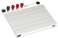 Global Specialties PB-60 Solderless Breadboard with Transparent Back Plate, 1680 Tie-point, 6 Lengt