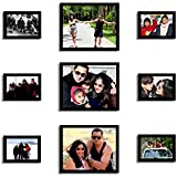 ANJALIS BLACK PHOTO FRAME COLLECTION SET OF 9 FRAME - INDIVIDUAL PHOTO FRAME WITH PHOTO FREE