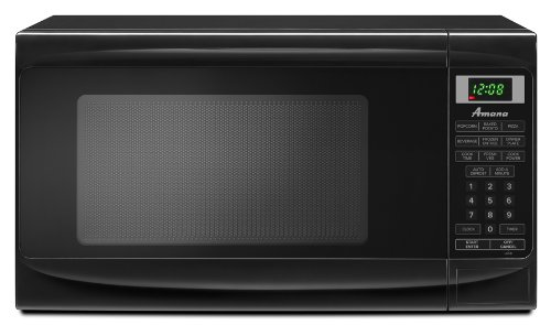 New Amana 0.7 cu. ft. Countertop Microwave, AMC1070XB, Black