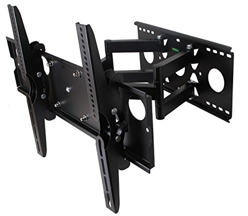 Husky Mounts Super Heavy Duty 32 - 80 Inch Full Motion TV Wall Mount, Dual Extendable Arm TV bracket with 154 LBS Capacity and up to 600X400 VESA, Tlits Swivel Articulating. (Tv Wall Bracket 80 compare prices)