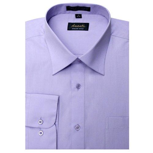 Amanti Dress Shirt-Lavender-Size: 15.5-Sleeve: 32/33-Neck: 15.5