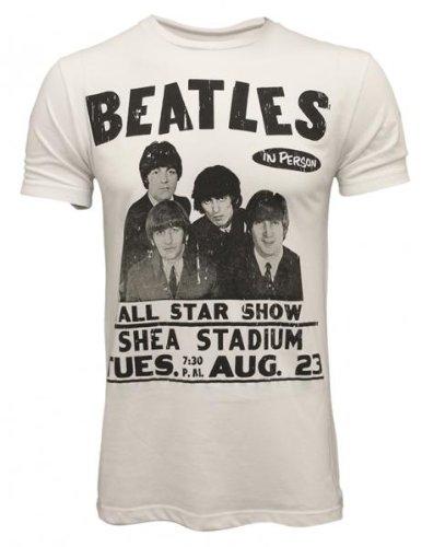 Amplified Vintage The Beatles Shea Stadium IKON Mens T-Shirt