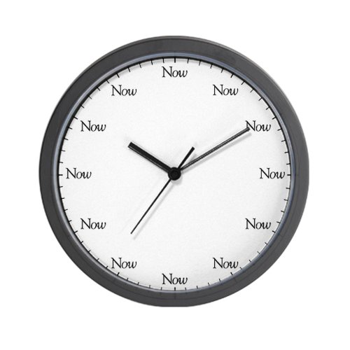 CafePress The Now Wall Clock
