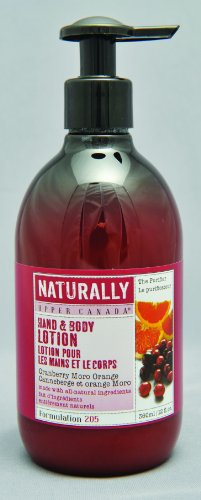 Upper Canada Soap And Candle Naturally Nourishing Hand And Body Lotion, Cranberry Moro Orange, 12-Ounce Bottle (Pack of 2)