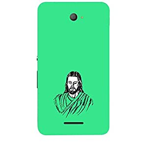 Skin4gadgets Lord Jesus Christ - Line Sketch on English Pastel Color-Turquiose Green Phone Skin for SONY XPERIA E4 Duo