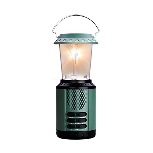 """""""Step Into The Light"""" With Re-Wind Dsp5013 Eco Friendly Solar Powered Portable Wind Up Lantern & Fm Radio - Ideal Accessory For Power Cuts, Car Breakdown Internal Emergency Light, Walking, Hiking, Camping, Festivals. No Batteries Needed! Two Year Guarante"""