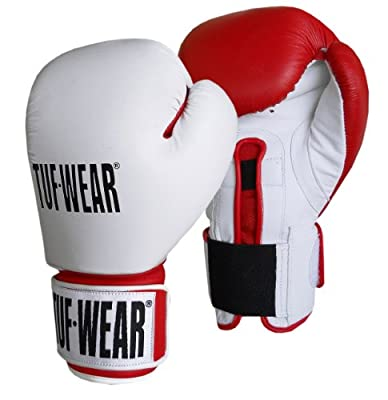 Tuf-Wear Combi Gym Safety Sparring Glove - Red & White, 14oz by Tuf-Wear