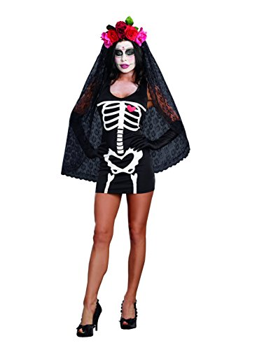 Dreamgirl Women's Sexy Skeleton Print DIY Costume Starter Dress