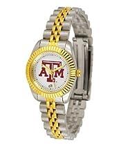 Texas A&M Aggies TAMU NCAA Womens 23Kt Gold Watch