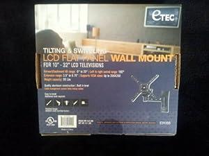Amazon Com Etec Tilting And Swiveling Wall Mount Electronics