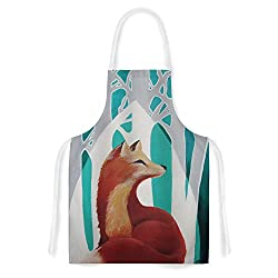 KESS InHouse Lydia Martin Fox Forest Artistic Apron, 31 by 35.75 , Multicolor