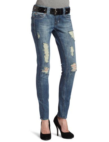 Yaso Juniors Destructed Skinny Jean With Belt, Medium, 5