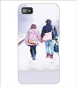 PrintDhaba Couple D-3726 Back Case Cover for BLACKBERRY Z10 (Multi-Coloured)