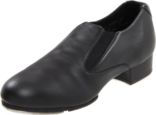 Capezio Women's CG18 Riff Slip-On Tap Shoe,Black,8.5 M US