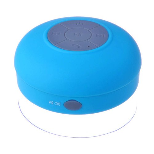 Generic Waterproof Wireless Bluetooth Shower Speaker Handsfree Speakerphone With Microphone For Bluetooth Devices Iphone 5S And Android Devices (Blue)