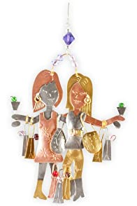Pilgrim Imports Girls Night Out Metal Fair Trade Ornament