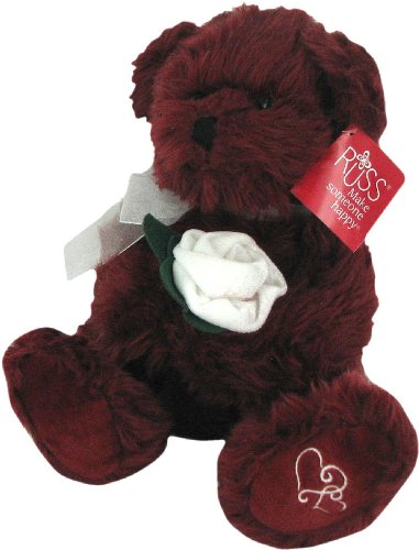 Burgundy Merlot Teddy Bear by Russ