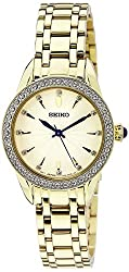Seiko Analog White Dial Womens Watch - SRZ386P1