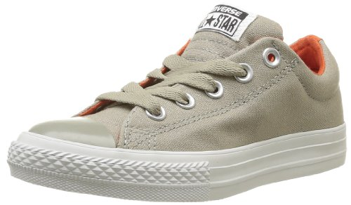 CONVERSE Unisex-Child Chuck Taylor All Star Street Slip Trainers 367180-34-163 Vieil Argent/Orange 2 UK, 34 EU