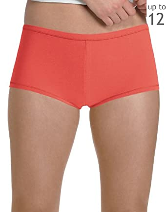 Hanes Plus Size Women's Comfortsoft Cotton Stretch Boy Briefs 3 Pack, 10-Assorted
