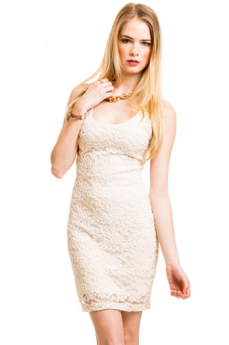Con Lace Dress In Cream