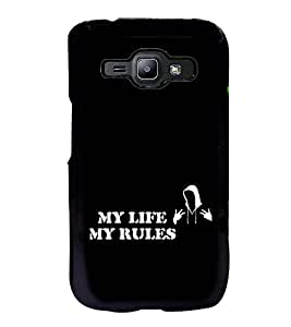 Printvisa Ultra My Life My Rules 2D Hard Polycarbonate Designer Back Case Cover for Samsung G...