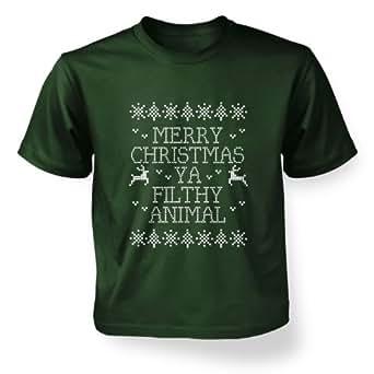 Merry Christmas Ya Filthy Animal Kids T Shirt