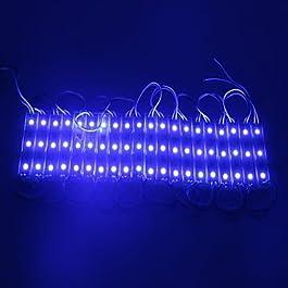 Ch&Ch ip65 0.6W waterproof 5050SMD azzurro ha condotto il modulo striscia duro lampada luce bar (DC 12V, 20pcs)