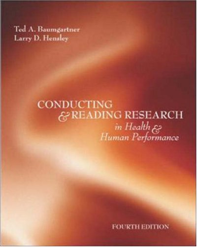 Conducting And Reading Research In Health and Human...