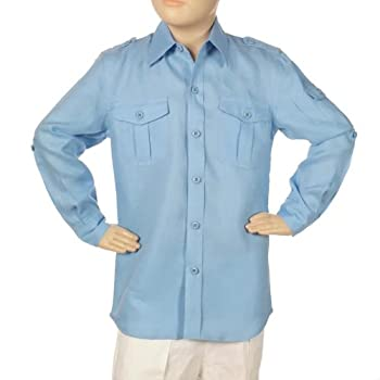 Two pockets long sleeve shirt for boys