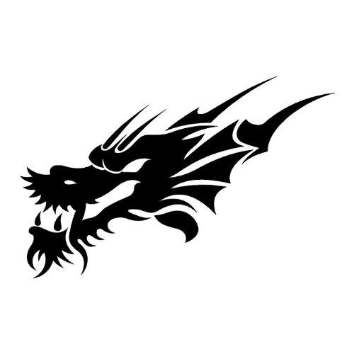 Scary Dragon's Head, Vinyl Sticker Wall Art Deco - 30cm Height*W Auto