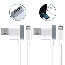 Lightning USB Cable, Smilism [2 Pack] 3.3ft 90 Degree Hub Right Angel Cable Charger Cord for iPhone 6s /6s Plus / 6 / 6 Plus / 5s / 5, iPod and more